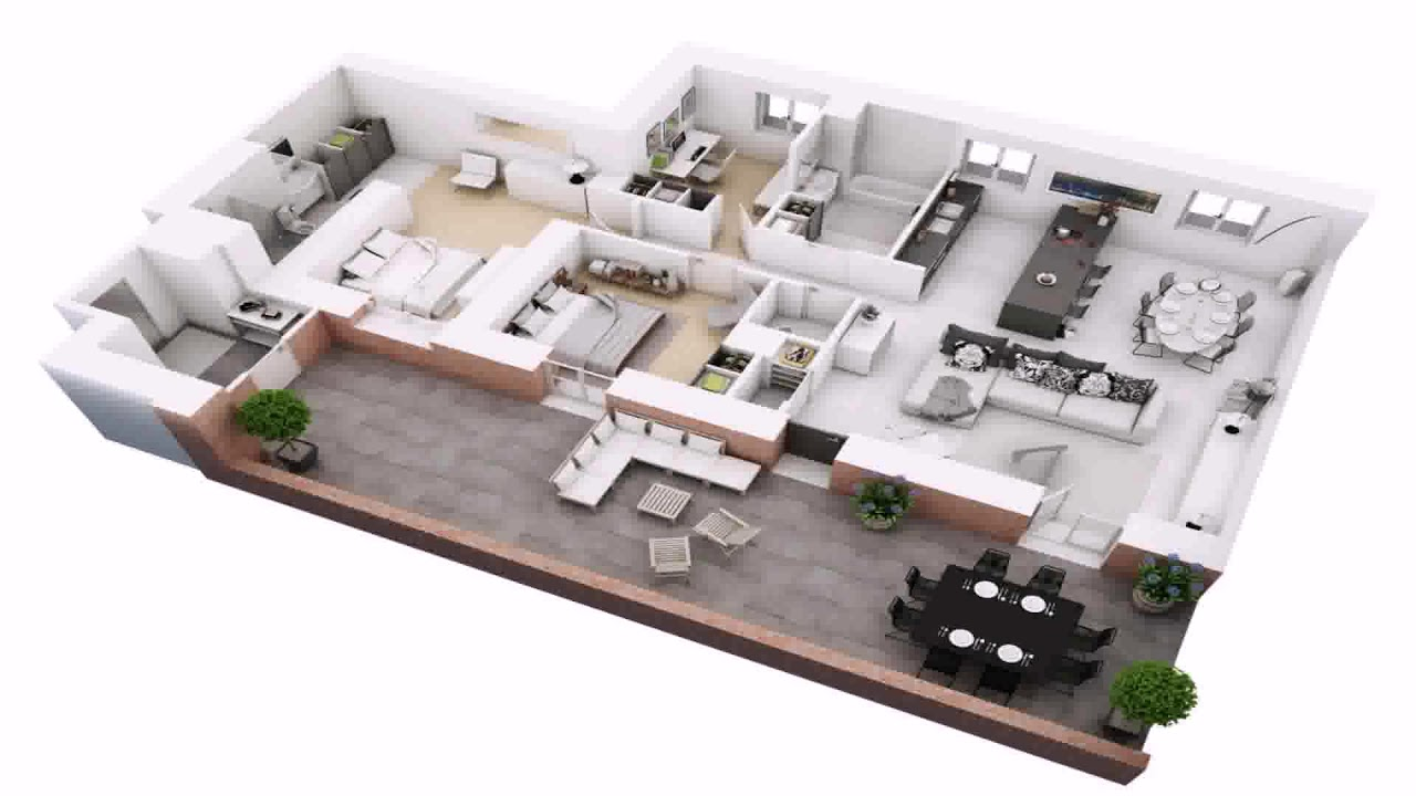 Free 4 Bedroom Duplex House Plans - YouTube