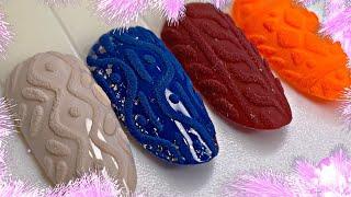 Вязаный дизайн ногтей Дизайн ногтей для новичков Manicure