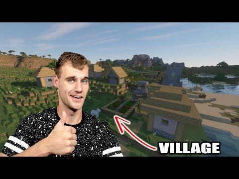 'EIGEN WERELD ANDER TEXTURES EN VILLAGE!' Minecraft Survival #1