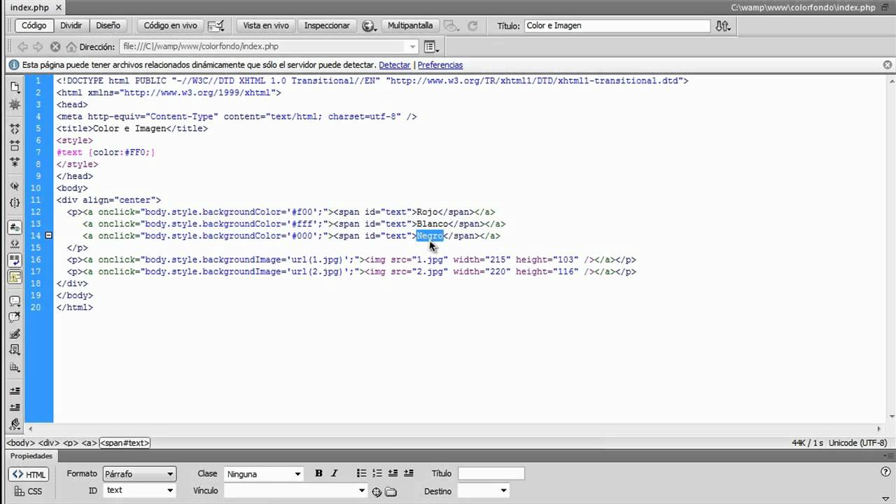 Cambiar el fondo de mi pagina web JavaScript - YouTube