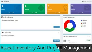 Asset Inventory And Project Management System in PHP MySQL