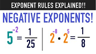 Multiplying Negative Exponents Usİng the Negative Exponent Rule!