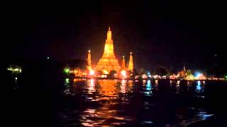 The Temple of Dawn Bangkok Wat Arun Night View Chao Phraya River