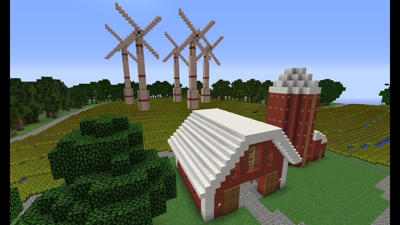 Minecraft Eco Friendly Town Project Youtube