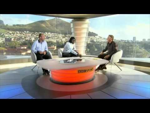 Emmanuel Adebayor's phone rings live on BBC