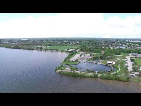 Drone Camera over Highway 528 between Merritt Island and Cape Canaveral, FL