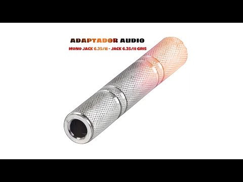 Video de Adaptador audio mono JACK 6.35/H - JACK 6.35/H  Gris