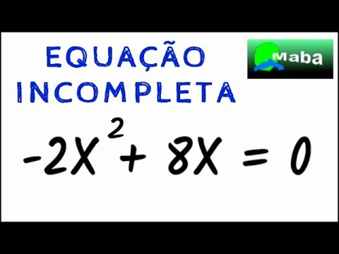 Equacao Do Segundo Grau Incompleta Youtube