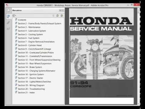 honda cbr600f2 cbr 600 f2 service manual wiring. Black Bedroom Furniture Sets. Home Design Ideas