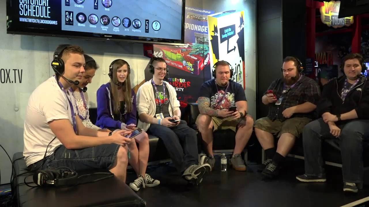 Jackbox Games @ TwitchCon w/ tehMorag, CrReaM, Elajjaz ...