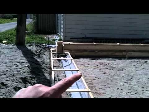 how to build footing for garage