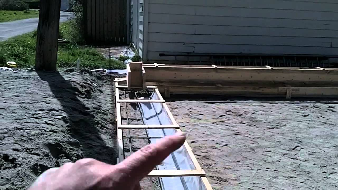 Garage Build Part 4   Building Forms For Our Concrete Foundation   YouTube