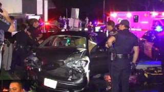 Chula Vista PD & CHP Stolen Car Crash 08/20/09