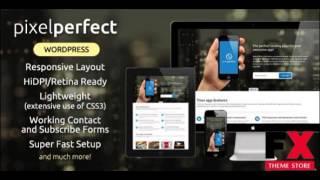 Preview PixelPerfect - Responsive Landing Page WP Theme TFx