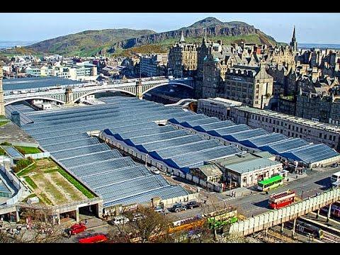 A Walk Around Waverley Railway Station, Edinburgh, Scotland