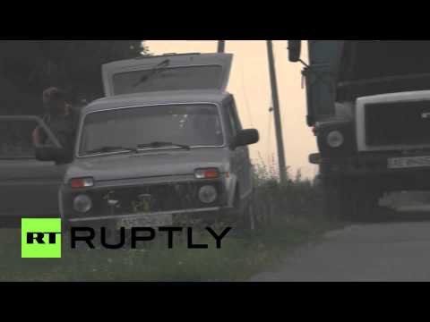Ukraine: *EXCLUSIVE* MH17 wreckage of Malaysia Airlines crash