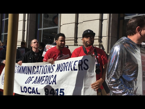 CWA AT&T Mobility Workers National Day Of  Action-To Fight Telecom Bosses!