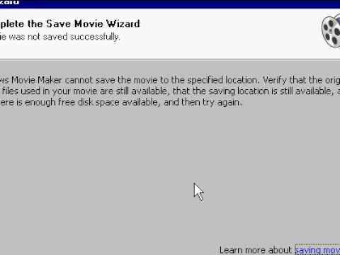 Using Window Movie Maker To Save Wmv As Avi