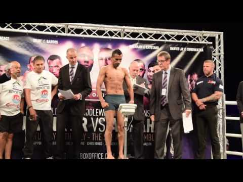 ITS THE CHAMP! - LEE SELBY v JONATHAN BARROS - OFFICIAL WEIGH IN & HEAD TO HEAD