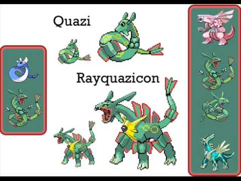 Baby and Evolution of Rayquaza Pokemon Sprites - YouTube