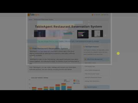 TableAgent - Free Restaurant Reservation System Intro - YouTube
