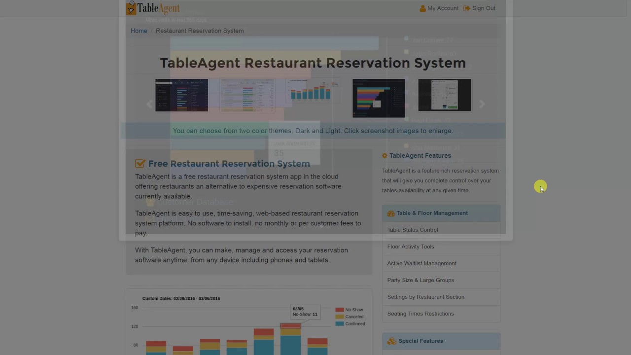 Tableagent Free Restaurant Reservation System Intro