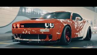 BLOOD SPLATTER Liberty Walk Wide Body Dodge Hellcat Challenger BY zelimkhanshm
