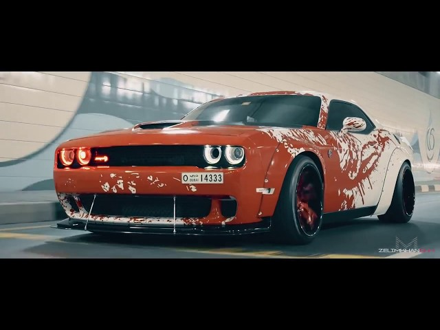 BLOOD SPLATTER Liberty Walk Wide Body Dodge Hellcat Challenger BY zelimkhanshm