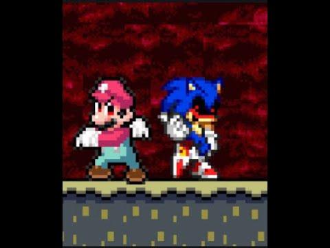 Devil Mario Vs Sonicexe Youtube