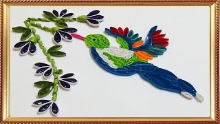 quilling artwork |  Made Easy # How to make a beautiful Hummingbird