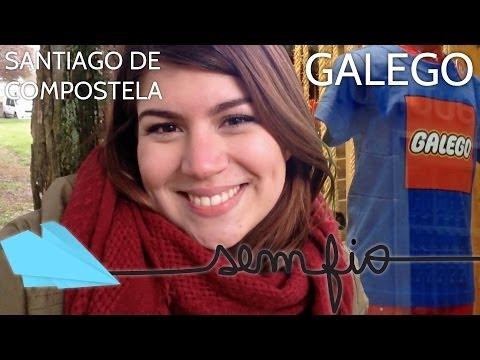 SANTIAGO DE COMPOSTELA - A língua galega | Sem Fio.tv