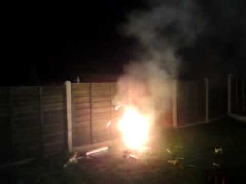 back garden firework uk youtube