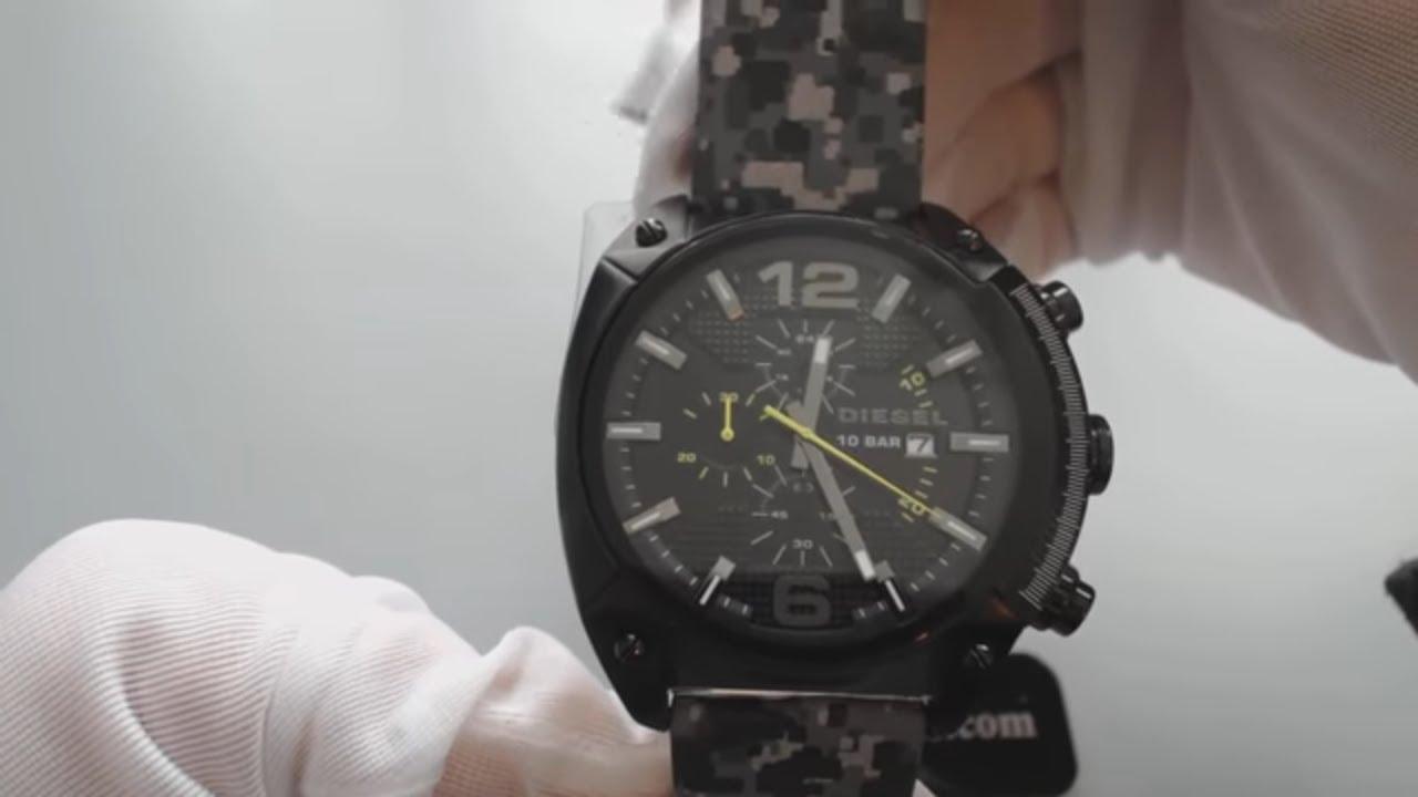 5412073d7e8 Men s Diesel Advanced Overflow Camo Print Watch DZ4324 - YouTube