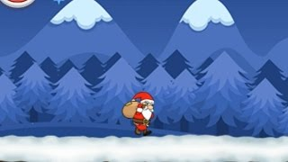 NEW Игры для детей—Гонки Дед Мороз в Новый год—мультик для девочек и мальчиков