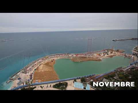 Monaco Land Extension, time lapse : 2019, land year !