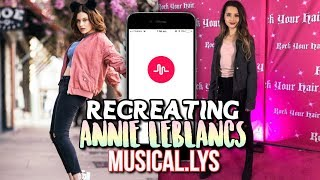 RECREATING ANNIE LEBLANC MUSICAL.LY'S || HAYLOHAYLEY ||