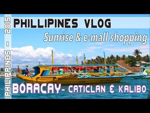 Boracay Island Philippines sunrise & E mall bargain shopping | Asia Travel VLOG