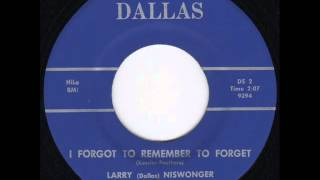 Larry (Dallas) Niswonger - I Forgot To Remember To Forget