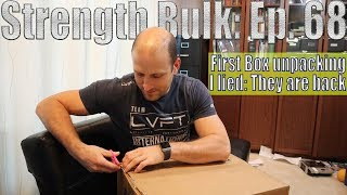 I lied: They are back   First Box unpacking: I had to do it   Vlog   Strength Bulk Ep. 68