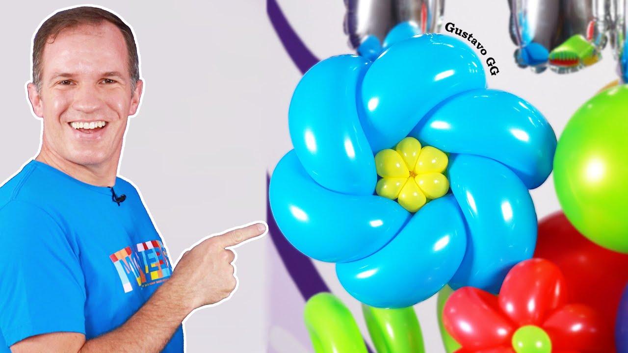 COMO HACER FLORES CON GLOBOS 🌸 ( trenza de globos ) - globoflexia - gustavo gg - bouquet de globos