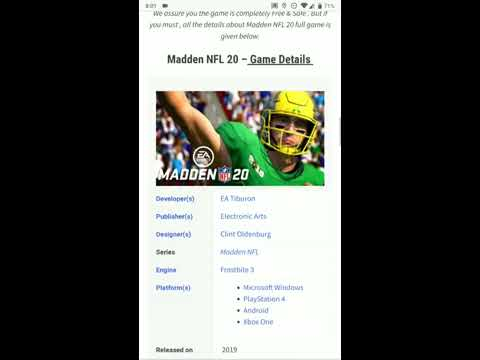 Madden NFL 20 Android | Download Madden NFL 20 APK For Android Free (2019 Full Game)