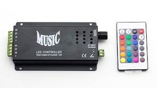 Sound Activated Rgb Led Music Controller