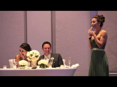 Clint August - My Sister's hilarious maid of honor speech!