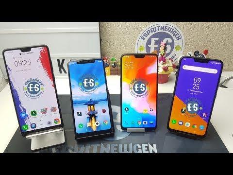 Huawei P20 Pro VS Xiaomi Mi8 VS Oneplus 6 VS Asus Zenfone 5Z , Mega Comparatif