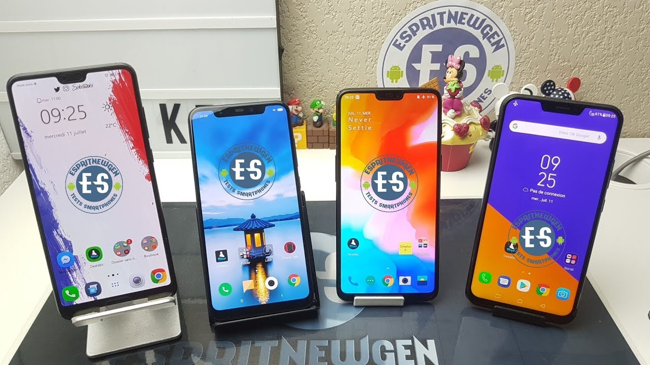 Huawei P20 Pro VS Xiaomi Mi8 VS Oneplus 6 VS Asus Zenfone