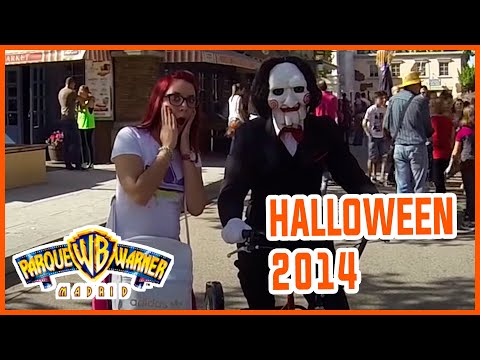 HALLOWEEN 2014 | PARQUE WARNER BROS MADRID  | VERO VLOGS |