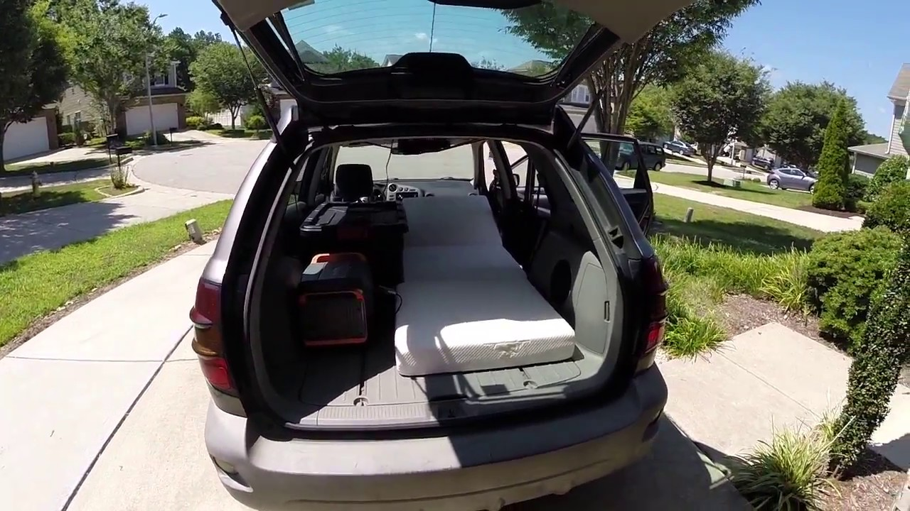car camping in a pontiac vibe