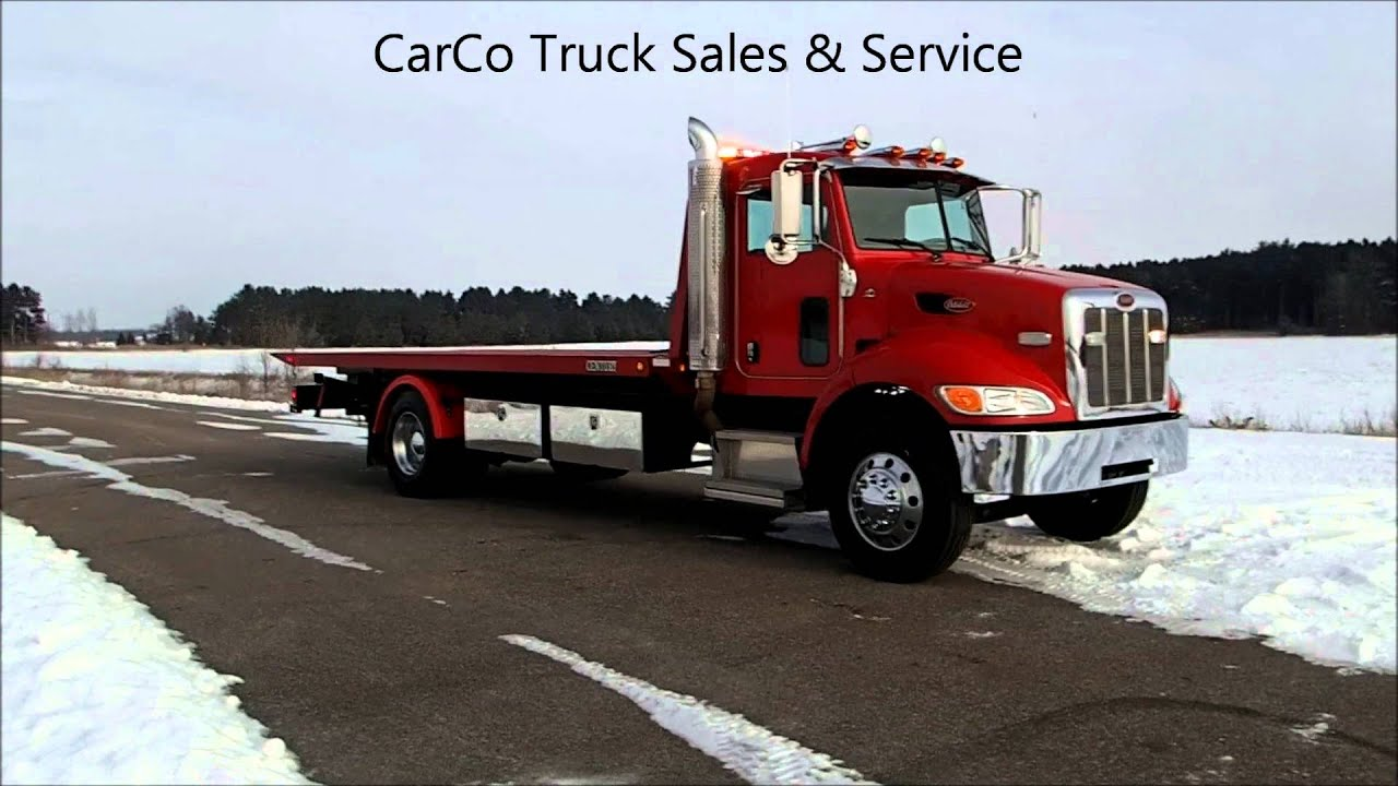 Peterbilt 335 century 22ft carrier tow truck for sale by carco