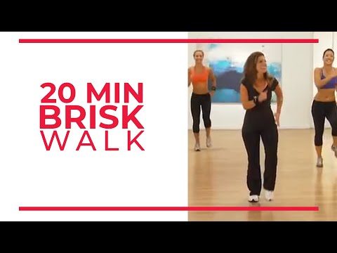 20 Minute Brisk Walk | Walk at Home Workouts