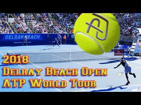 2018 Delray Beach Open Singles Finals ATP Tennis Tournament - Frances Tiafoe vs Peter Gojowczyk